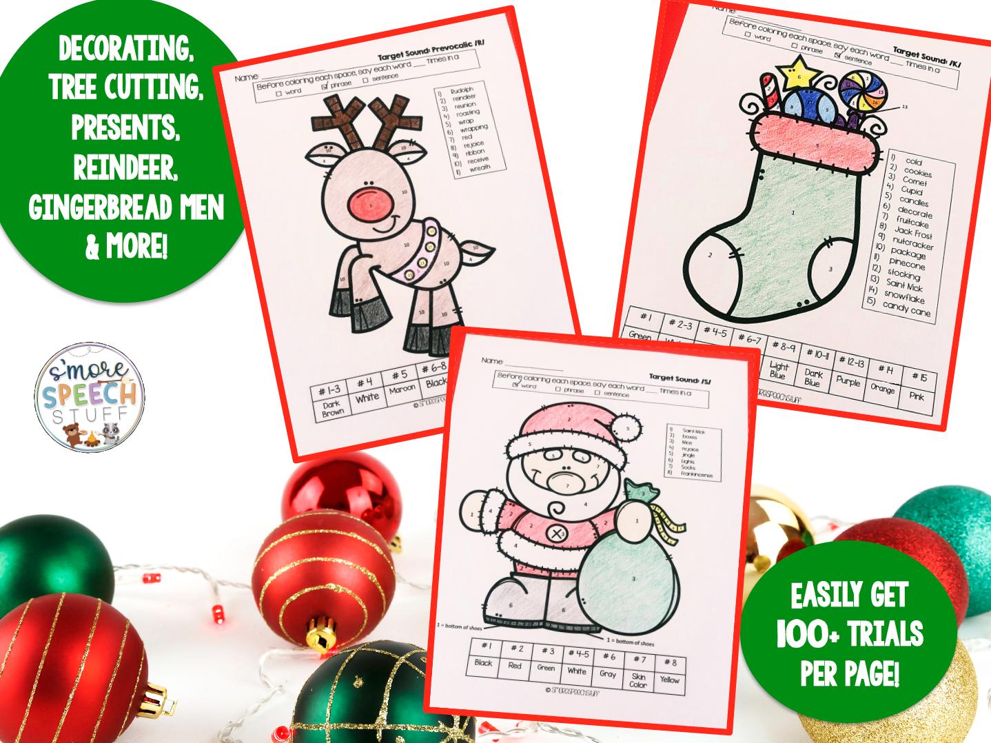 Christmas Articulation Activities Bundle