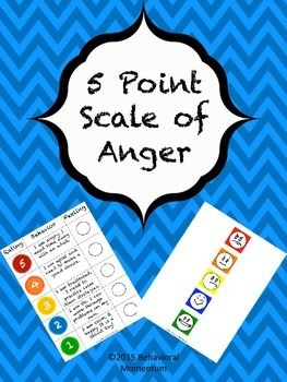 Teach the different levels of anger using this 5 point scale. Your purchase includes the 5 point scale with ratings 1-5, behavior description, and a place to velcro the associated emotion. Smiley faces are also included. Refer to this chart to teach emotional control. #emotionalcontrol