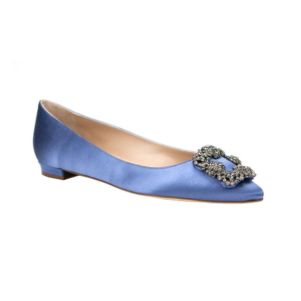 Manolo Blahnik Ballerines - Bleu Quel Que Soit SB2C0DgA