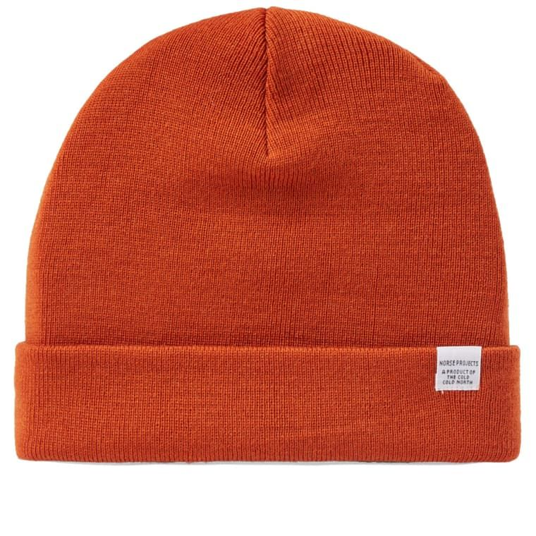1c8c0af0b61 Norse Projects Top Beanie (Ochre)