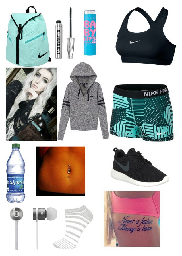 """Untitled #98"" by lexi54525sos ❤ liked on Polyvore featuring NIKE, Bare Escentuals, Beats by Dr. Dre, Victoria's Secret PINK and Topshop"