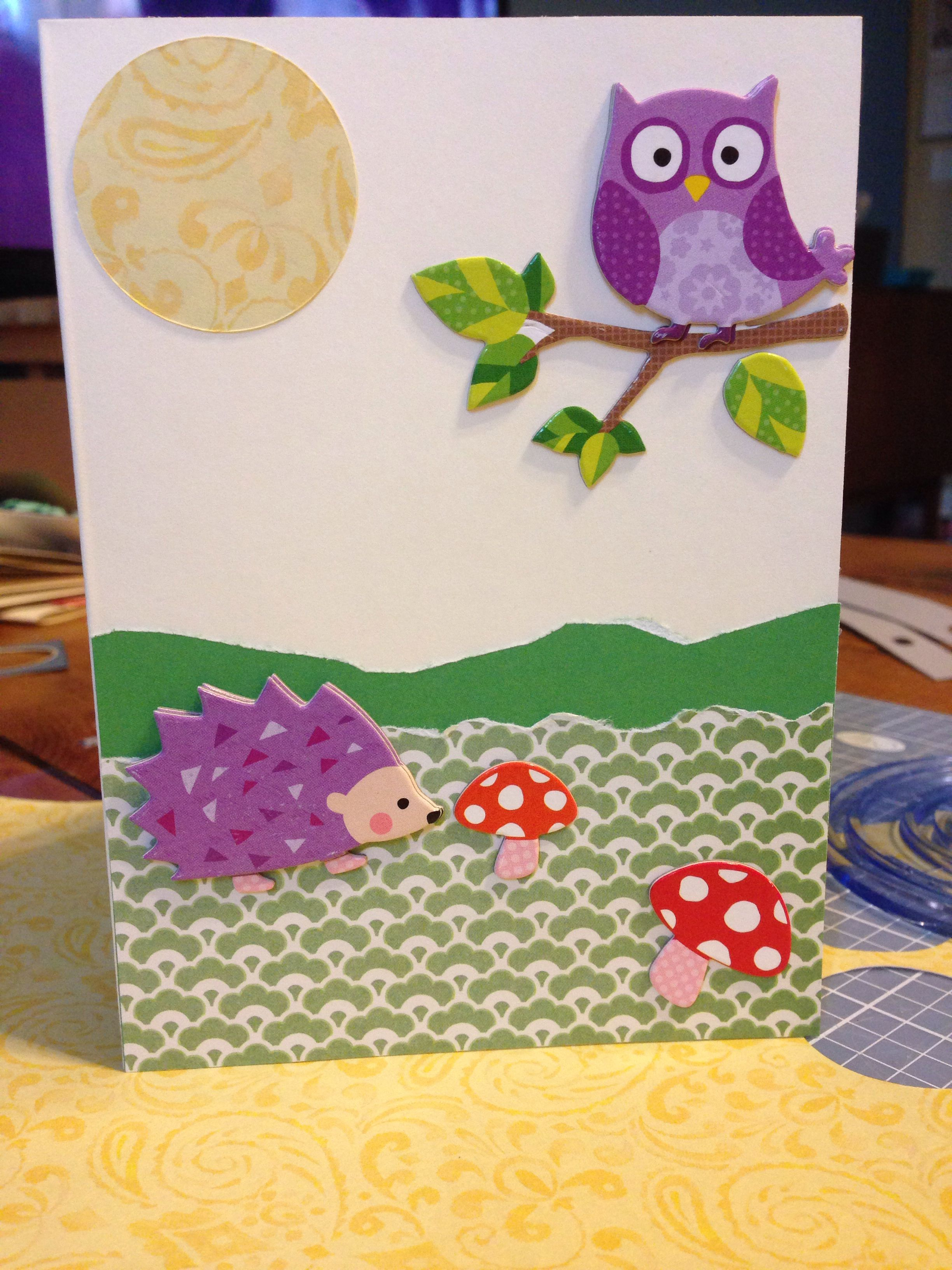 Paper Tearer For Grass Owl Hedgehog 1 Sticker Pack From Michaels