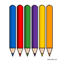 Six Color Pencils Free Clipart Image Clip Art Pencil Clipart Free Clip Art
