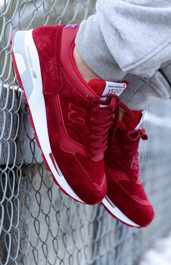 new balance 1500 maroon hair