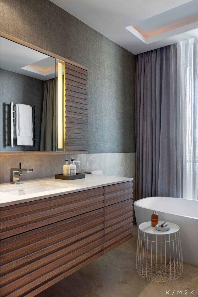 badezimmermöbel unterschrank spiegel holz Spiegel Pinterest - badezimmermöbel aus holz