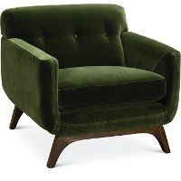 Mid Century Modern Olive Green Chair Falkirk In 2020 Dining Room Chair Cushions Furniture Most Comfortable Office Chair
