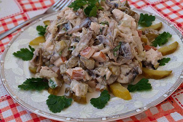 Салаты из курицы рецепты с простой 82