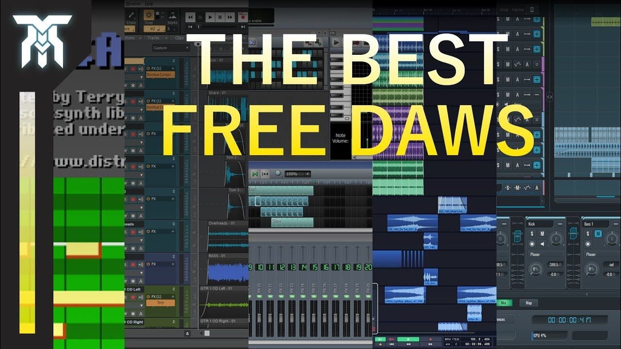 Best Free DAWs for Music & Sound Design (Best Available in