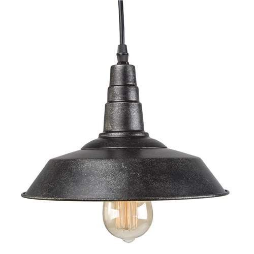 LNC Warehouse Pendant Light, Blackened Steel Finish