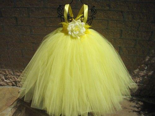 dbd3cd08d Tutu Dress LEMON PARFAIT, Empire Waistline, Elastic Bodice, 20 Inch Long  Skirt, For Toddler Girls Age 1-6