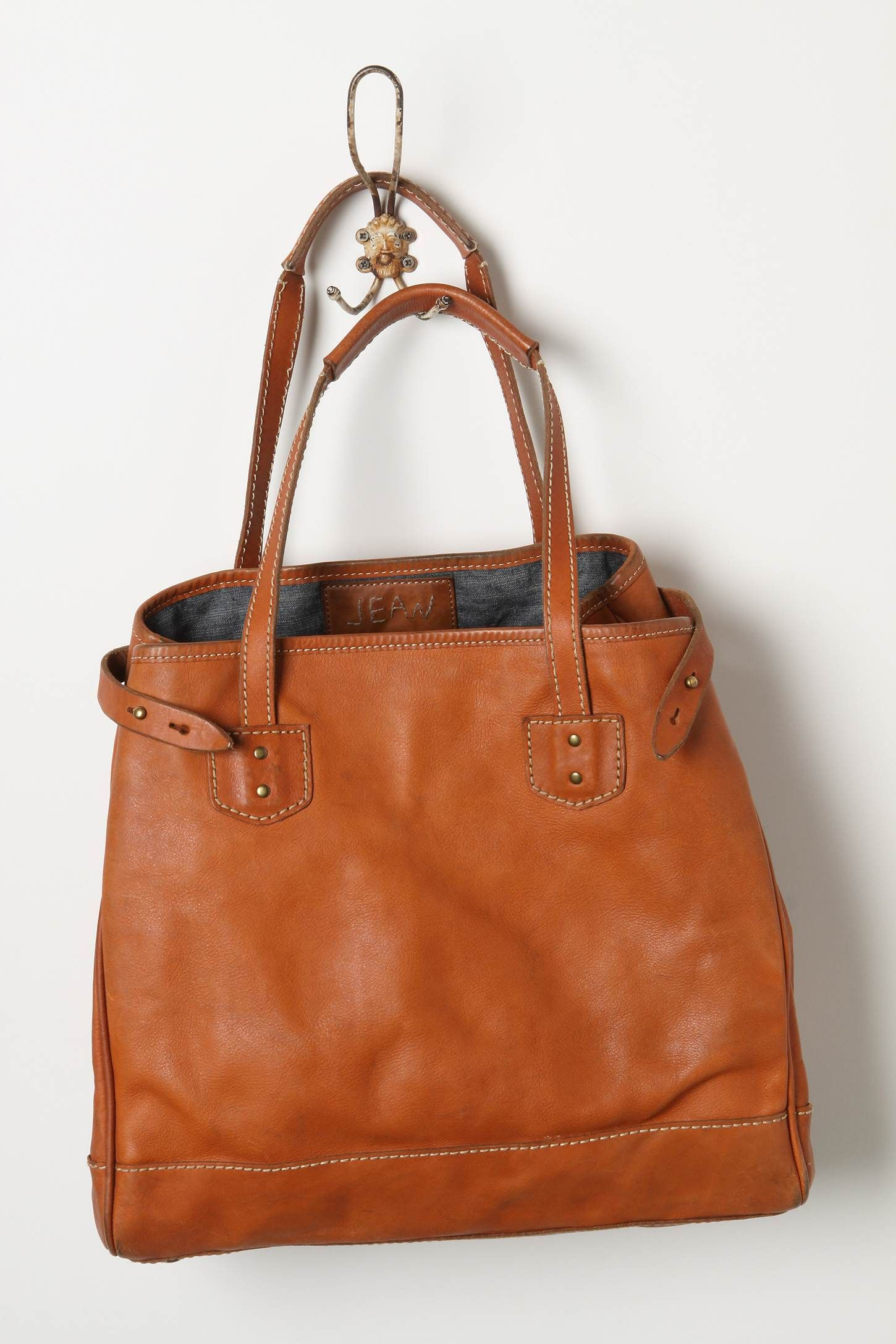 Rancher Tote $448 #Anthropologie #WornIn #Leather