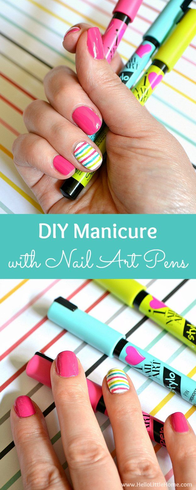 DIY Manicure with Nail Art Pens! Brighten up your fingers with this ...