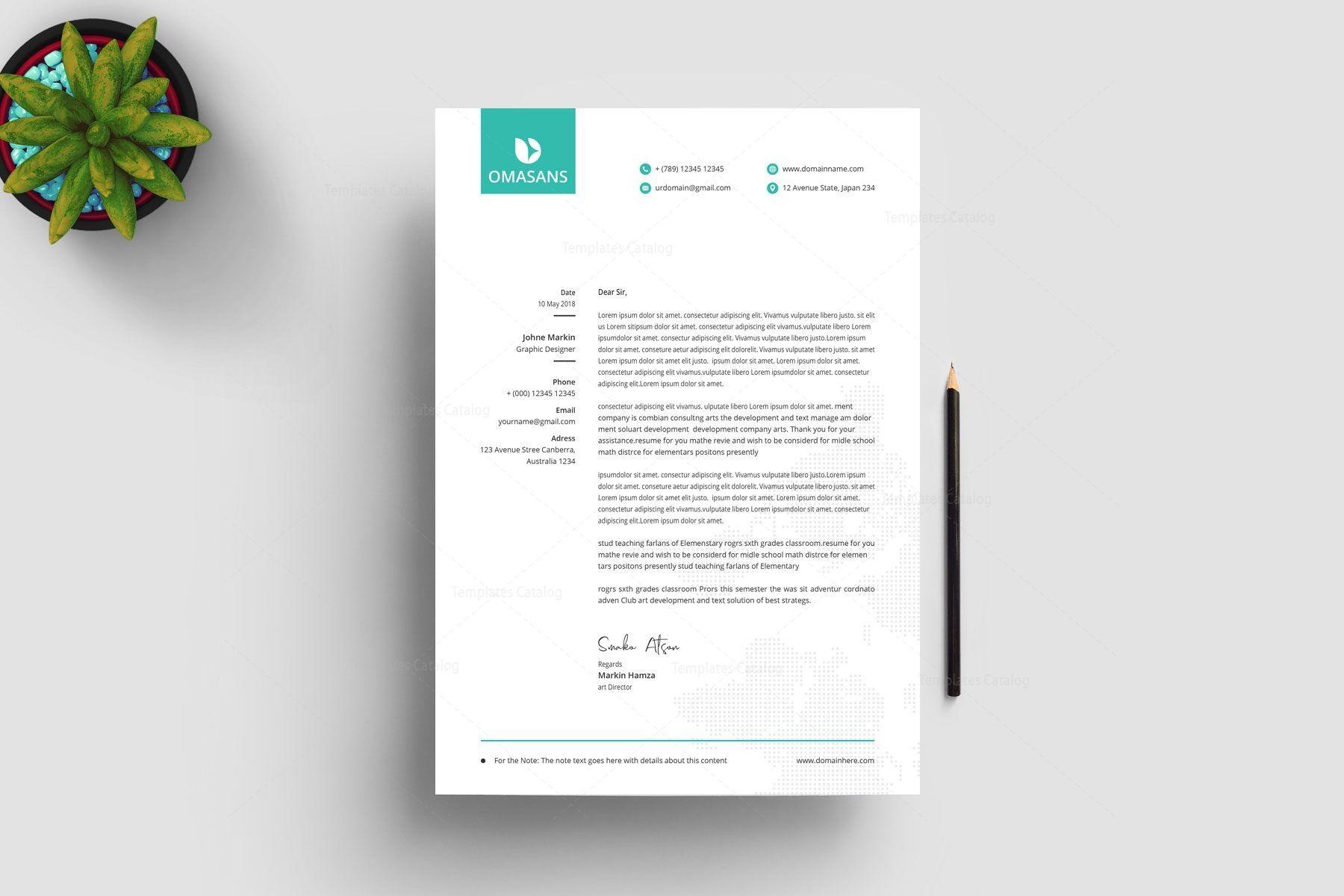 Classy Corporate Letterhead Design 002862 Template Catalog Letterhead Design Letterhead Template Print Design Template