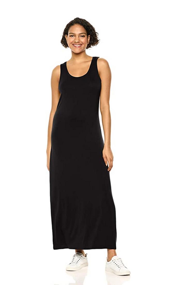 Amazon Essentials Women S Tank Maxi Dress Maxi Tank Dress Maxi Dress Fashion [ 1103 x 735 Pixel ]