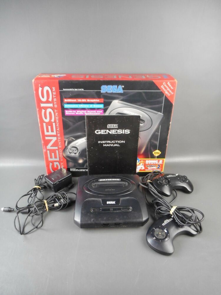 Sega Genesis Console [Model - In Box - RARE No Sonic 2 Game Included