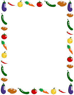 Vegetable Border Bordas Coloridas Trabalhos Manuais Molduras