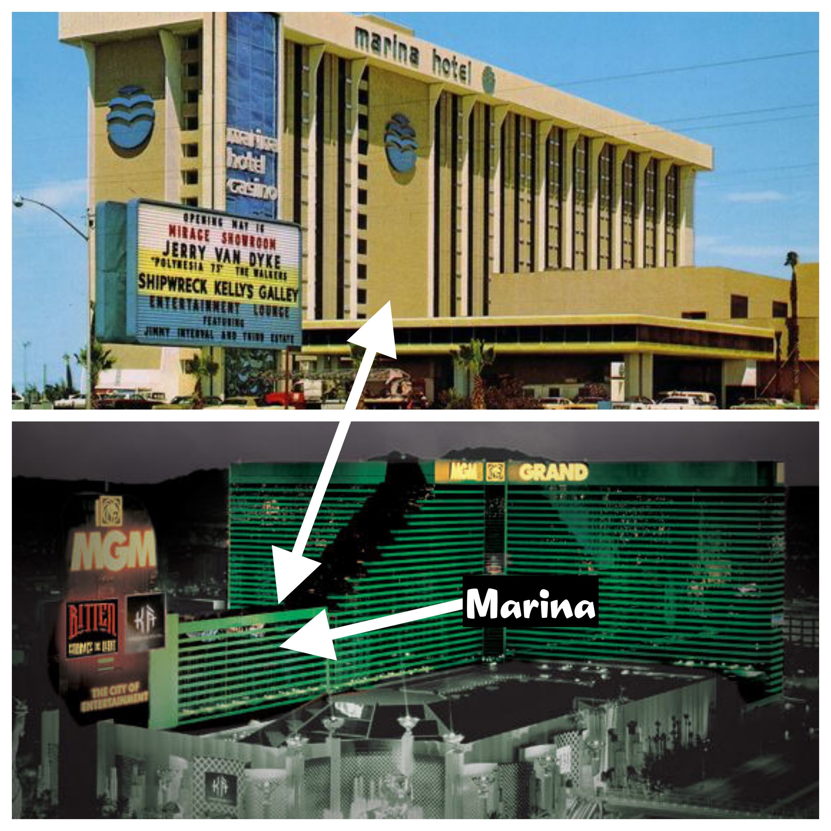 The Marina Has Been Incorporated Into The West Wing Of The Mgm Grand Las Vegas Resorts Las Vegas Photos Old Vegas