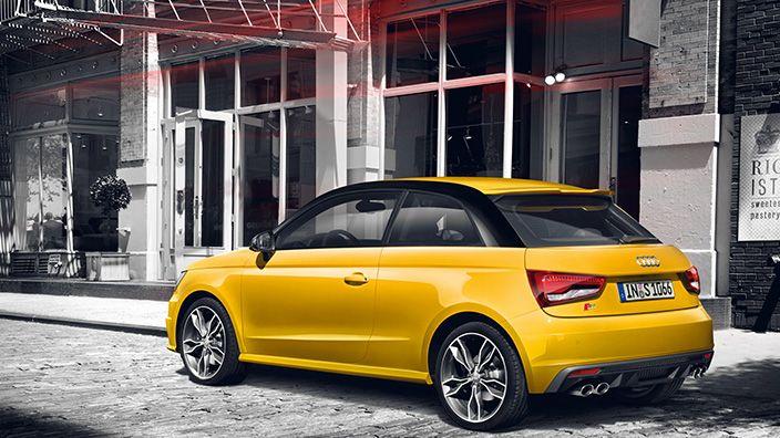 Audis1 Audi S1 Yellow Sport Car