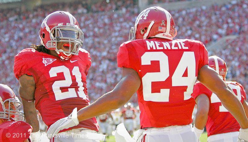 24 Dequan Menzie Alabama Football Alabama Crimson Tide Football Helmets