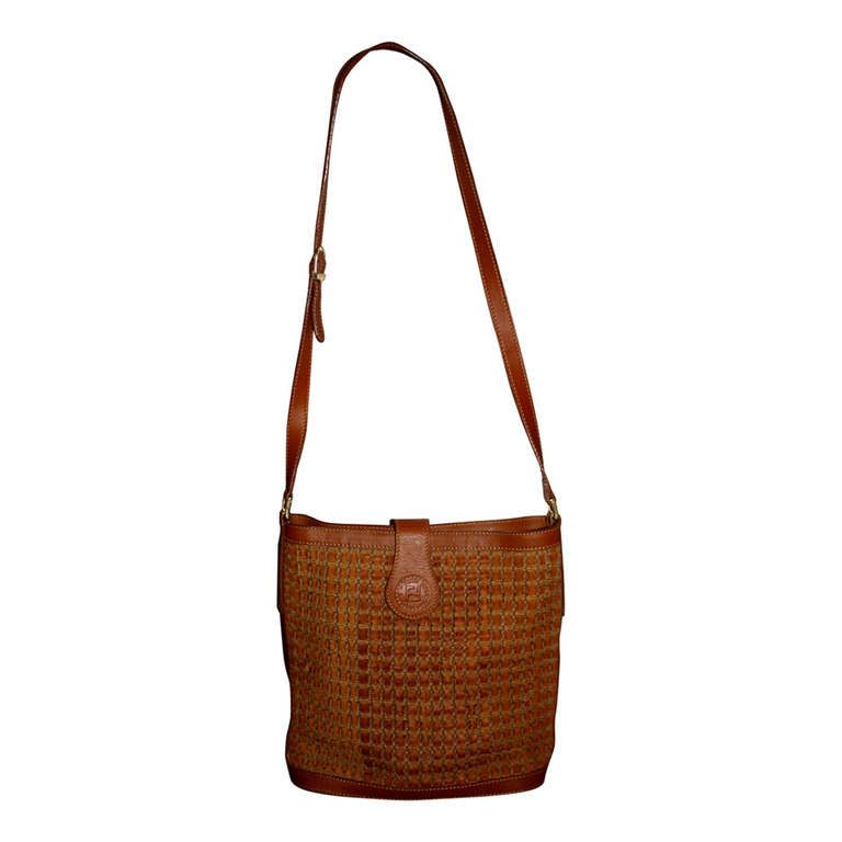 139c3d5243d4 BRAND NEW Vintage Fendi woven leather crossbody bag just posted in my  1stDibs.com shop