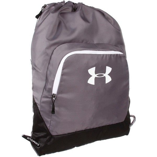 3c24815bac Under Armour UA Exeter Sackpack ($28) ❤ liked on Polyvore featuring bags,  backpacks, backpack, strap backpack, under armour bag, purple backpack, ...