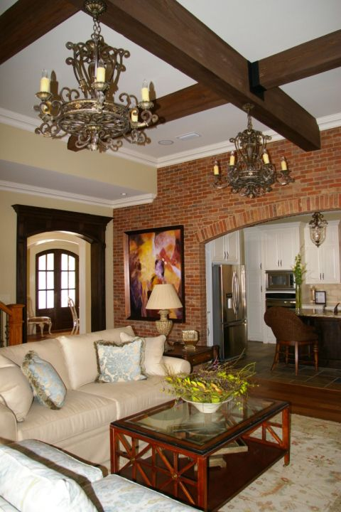 Family Room With Interior Brick Wall Brick Interior Wall House