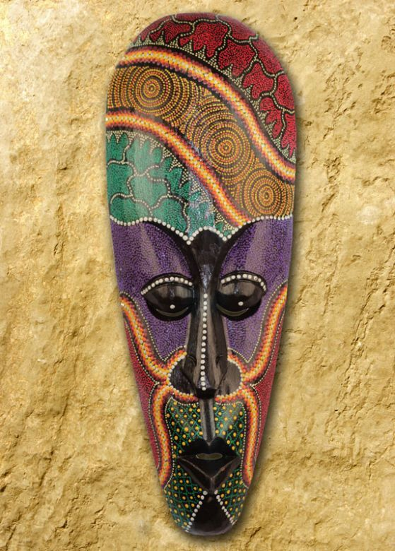 Dramatic African Style Wooden Tribal Mask (D) | Fair Trade Gift ...