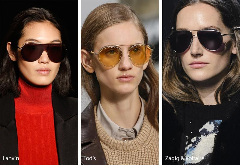 1170e7125c6a Fall  Winter 2018-2019 Sunglasses Trends  Metal-Topped   Thick-Rimmed Aviator  Sunglasses