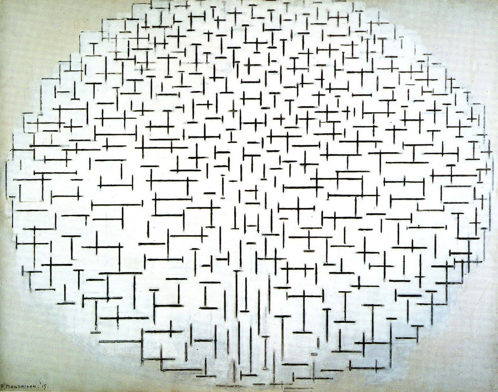 piet mondrian composition in black and white rijksmuseum krllermller