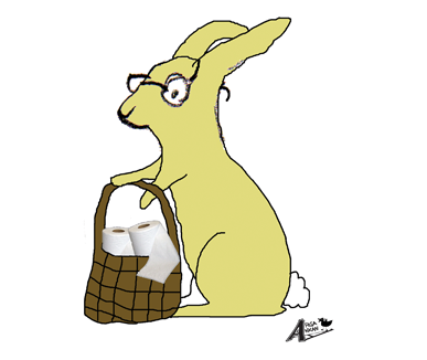 Who wouldn't want this delightful Toilet Paper Bunny to bring them TP from his basket