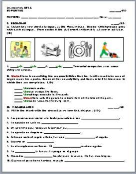 Avancemos 1 Unidad 5 Lección 2 Vocabulary Quiz | 8th grade