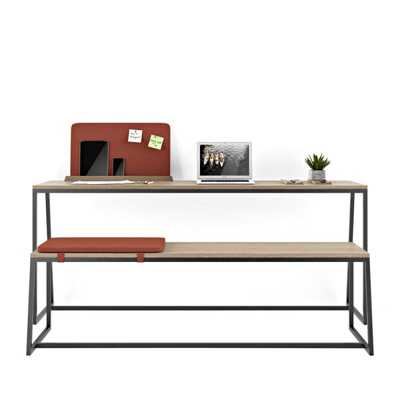 180cm Breiter Schreibtisch Bank In Schwarz Eiche Elpodian 2 Teilig In 2020 Arbeitszimmer Mobel Design Schreibtisch Schreibtisch Mit Schubladen