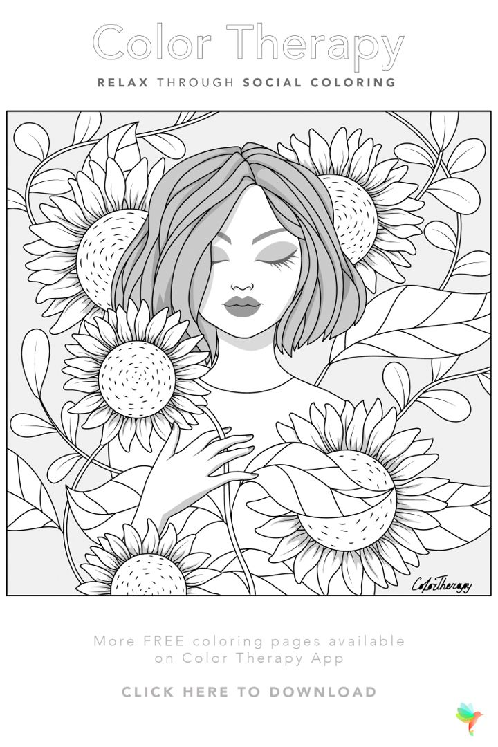 Color Therapy Gift Of The Day Free Coloring Template Monster Coloring Pages Coloring Book Art Cute Coloring Pages