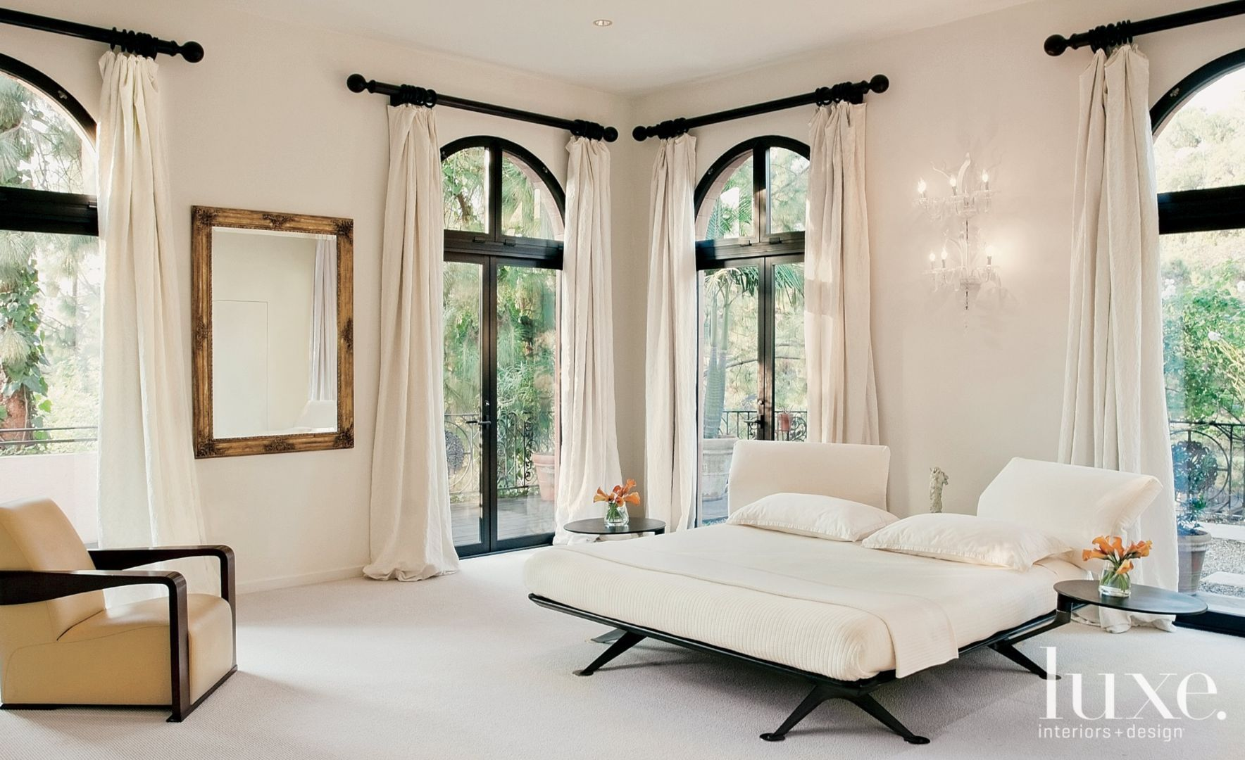 Window dressing ideas for arched windows   easy ways to incorporate gold into your home  luxeworthy