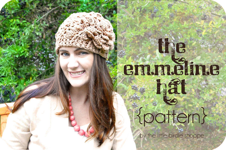 The emmeline hat girls womens crochet hat pattern w flower 4 the emmeline hat girls womens crochet hat pattern w flower 4 bankloansurffo Images