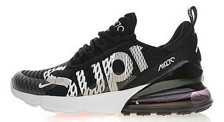 Nike Air Max 270 X Supreme Noir Blanc AH8050 001 | Chaussure