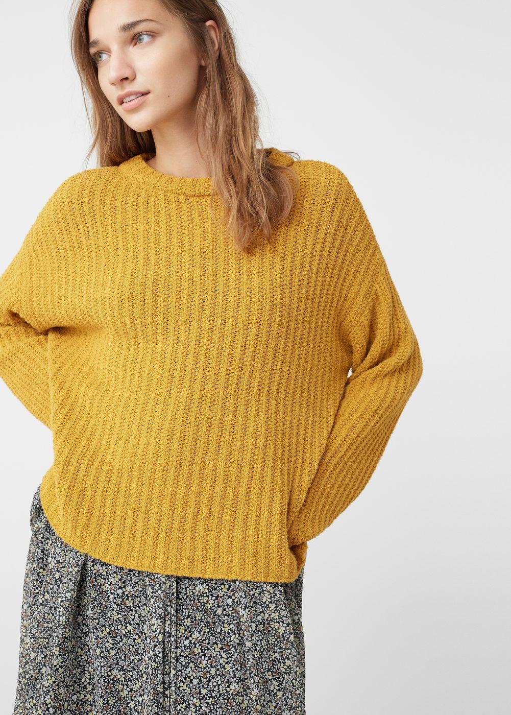 Jersey textura algodón - Cárdigans y jerséis de Mujer  557056d59145