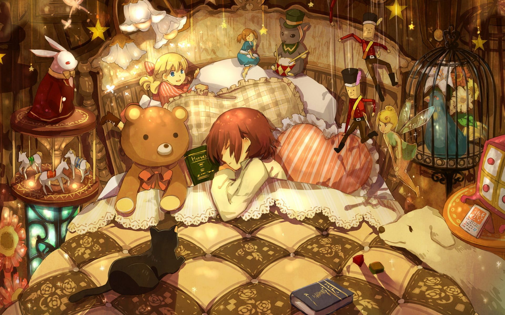 Pin By Moon Cake On Detailed Imaginative Fantastical Illustrations Anime Anime Wallpaper Painting