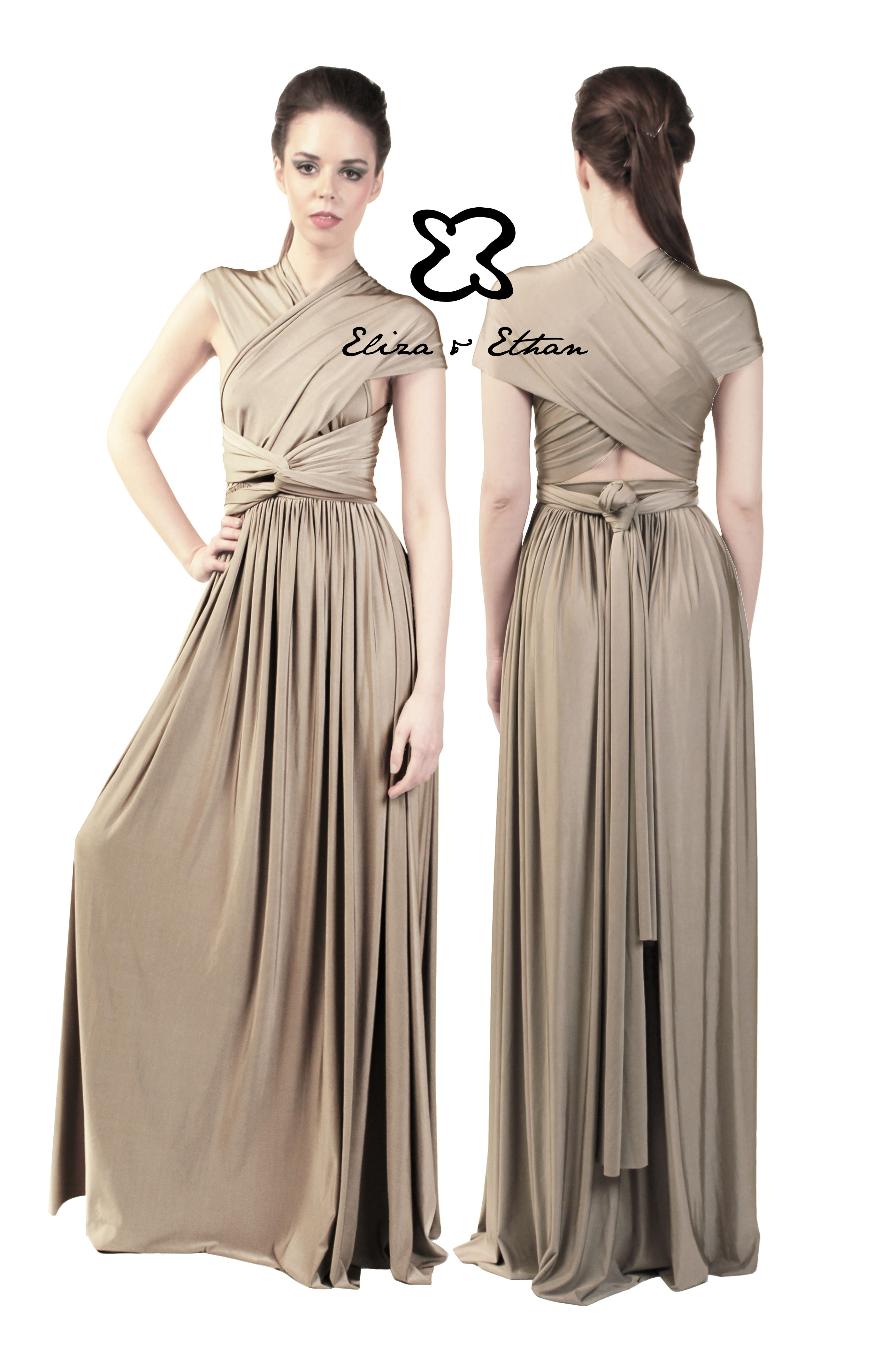 Eliza and ethan multiway infinity bridesmaids dresses brides and grooms in poulton 01253 932940 eliza and ethan multiway infinity bridesmaids dresses onesize maxi multiwrap dress color champagne ombrellifo Images