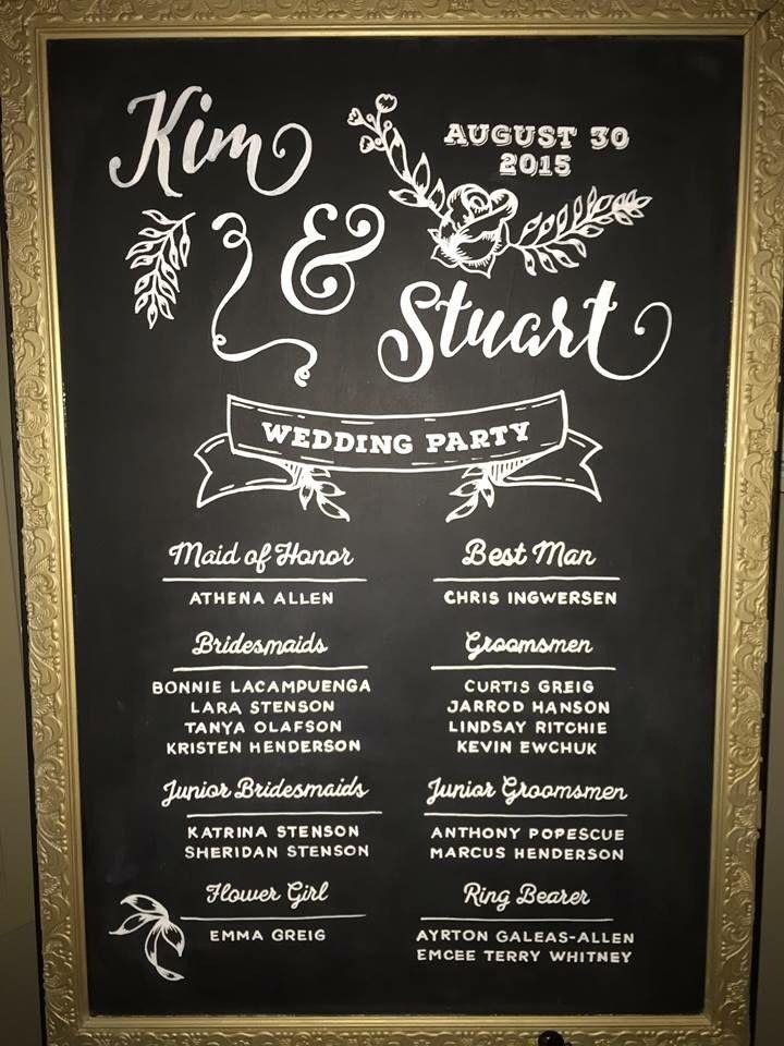 Chalkboard Wedding Party