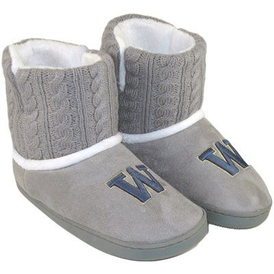 Washington Huskies Ladies Knit Booties - Gray