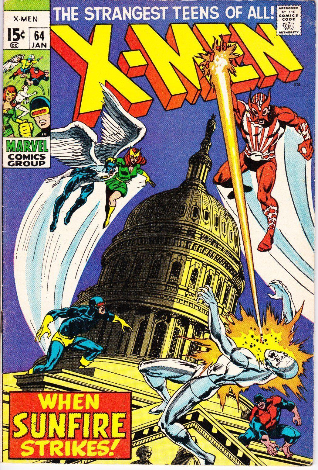Uncanny X Men 64 1963 1st Series January 1970 Marvel Marvel Comics Covers Marvel Comics Superheroes Comics