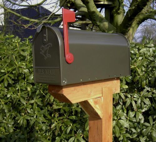 U S Mailbox Classic Rural Style American Mailbox Letterbox Postbox Steel Bronze Brievenbus American Ouderwets
