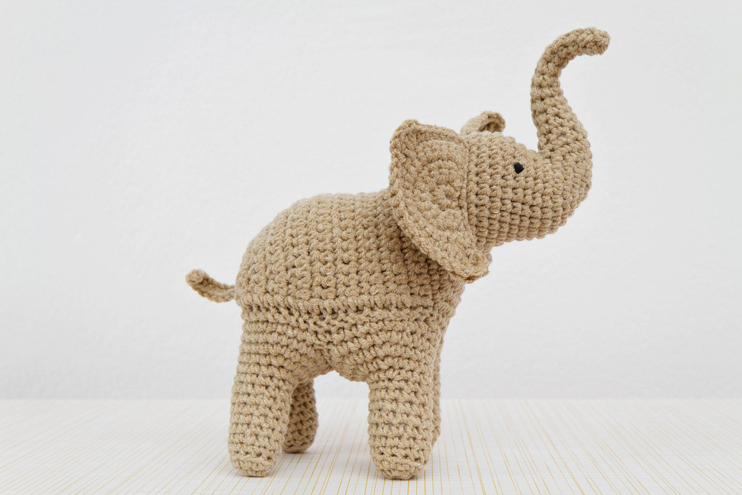 Elephant Crochet Pattern, Elephant Amigurumi Pattern, Trunk Up ...