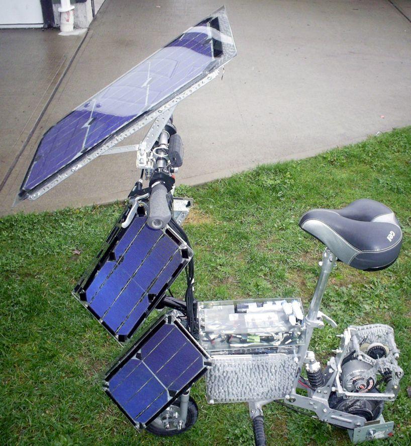 Hybrid Electric Photovoltaic Bike Solar panels