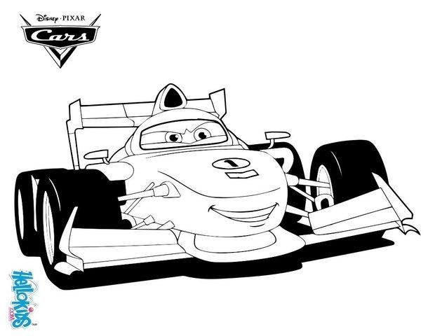 discover this amazing coloring page of cars 2 here francesco bernoulli a coloring page