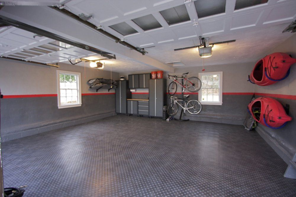 Good Awesome Garages Workshops | ... Awesome Garage Renovation With Cool Painted  Walls And An