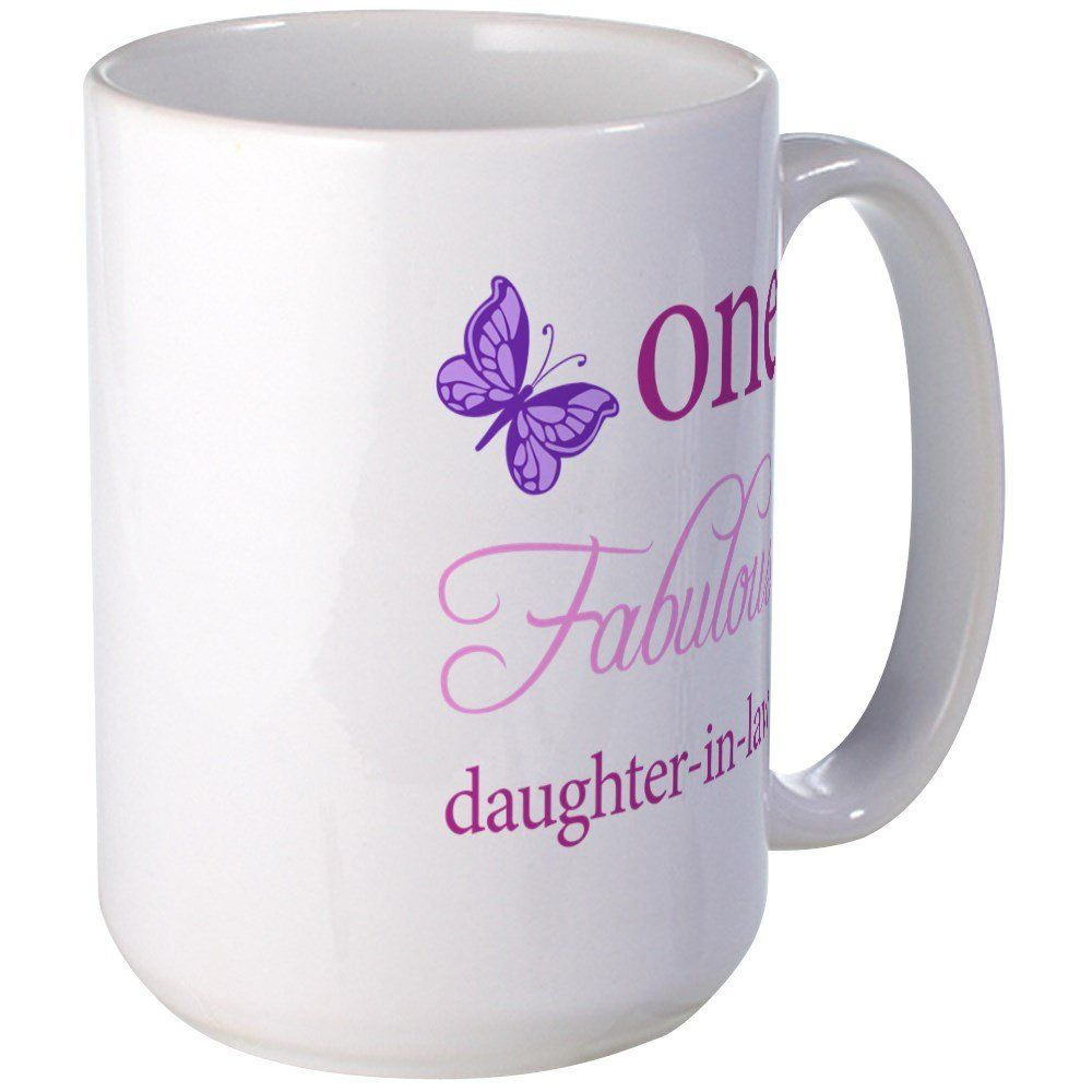 Cafepress one fabulous daughterinlaw large mug coffee mug