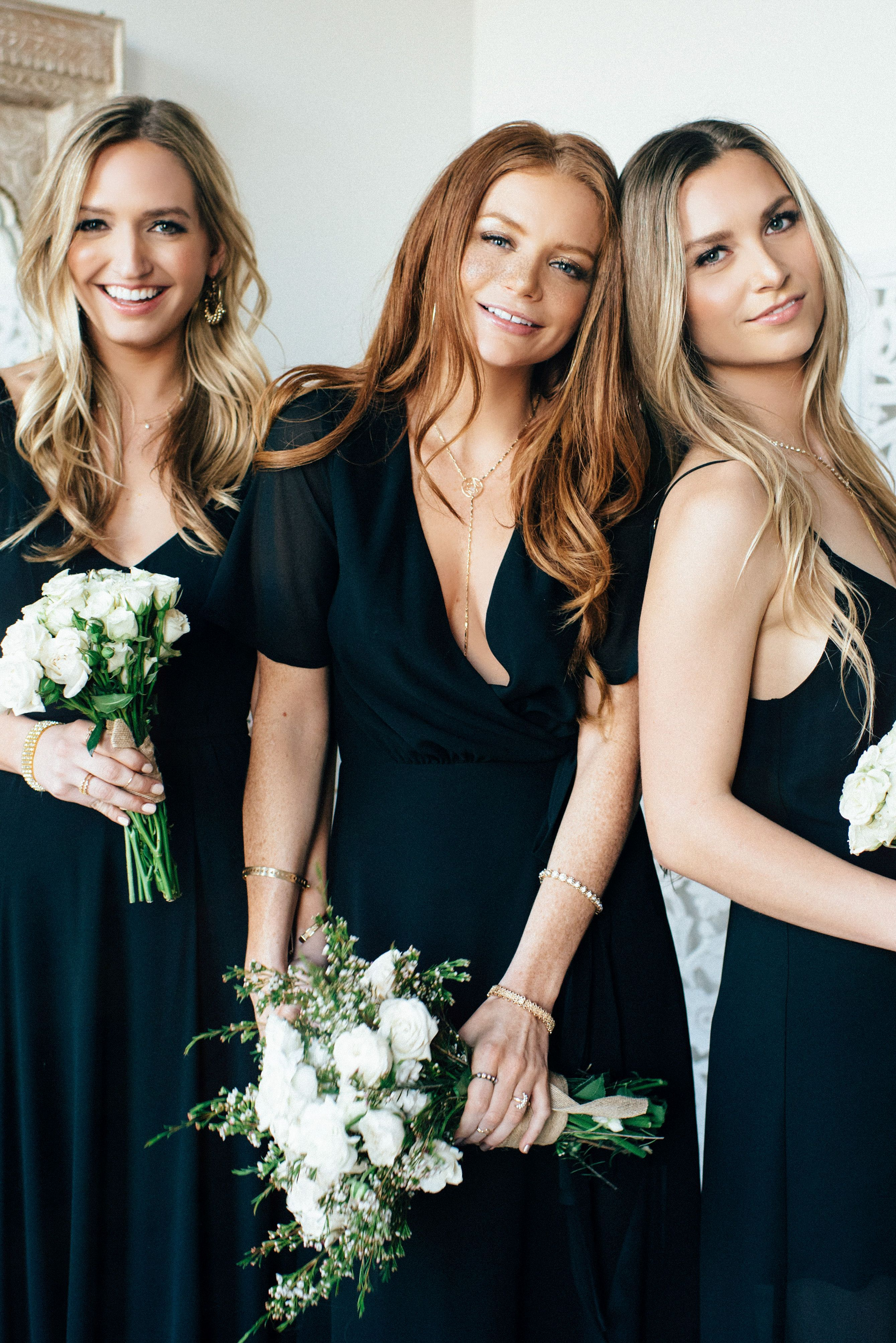 beautiful black bridesmaid dress styles for perfect wedding