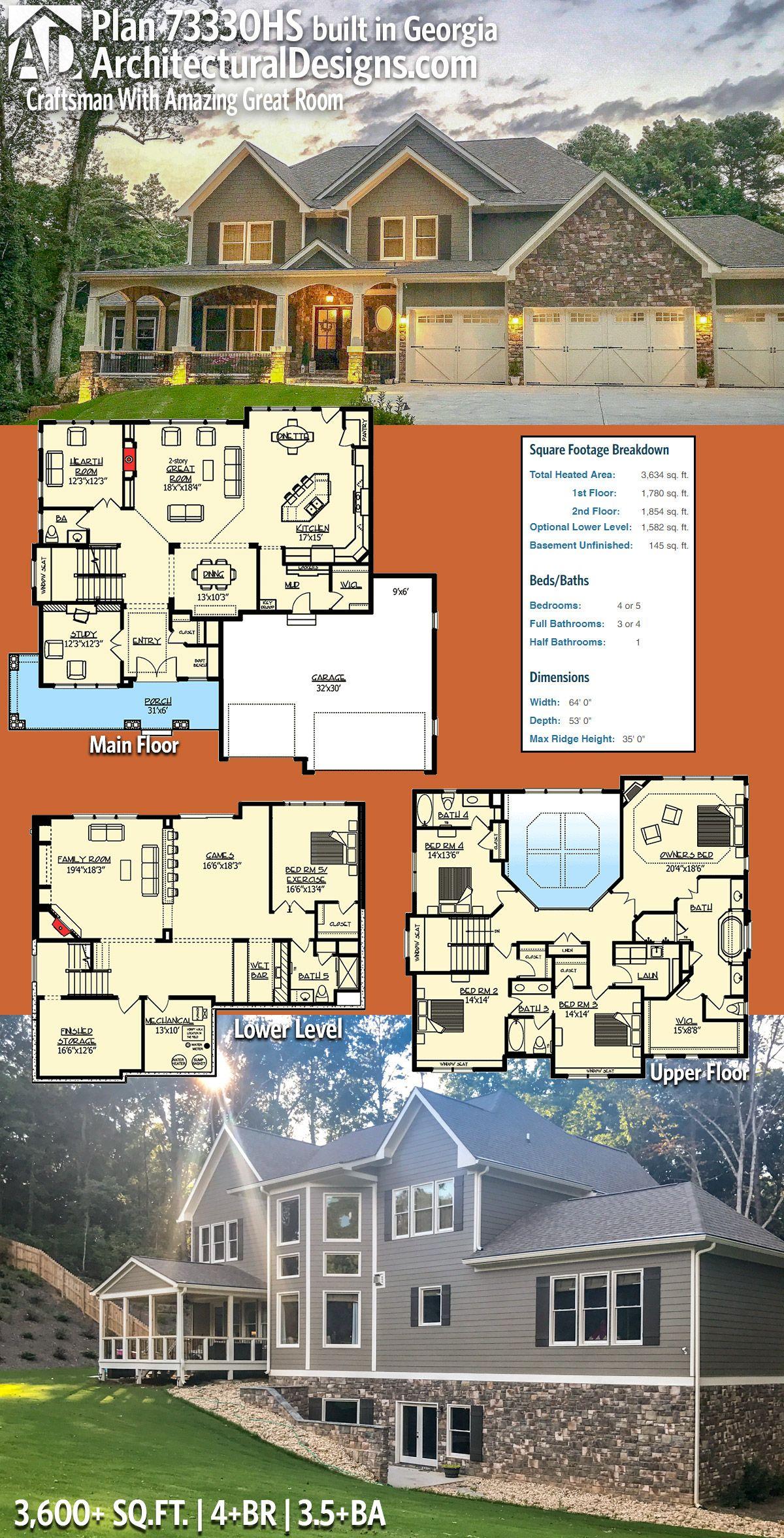 mygeorgiafarmhouse Architectural Designs Exclusive House Plan 73330HS